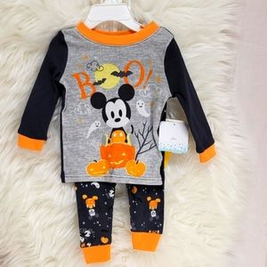 Disney Baby Mickey Mouse Boo PJs 12Month Halloween